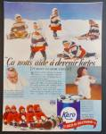 Karo Syrup Ad With Dionne Quintuplets Sledding