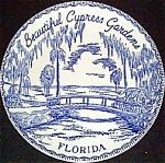 Cypress Gardens Souvenir Plate