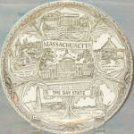 Massachusetts Souvenir Plate