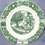 Ohio Johnny Appleseed Souvenir Plate