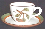 Stangl Orchard Song Cup And Saucer