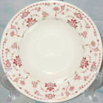Sterling Red Floral Rim Soup