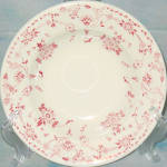 Sterling Red Floral Soup Bowl