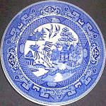 Sterling Blue Willow Salad Plate