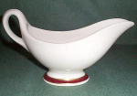 Sterling Maroon / Gold Band Gravy Boat
