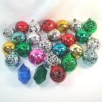 26 Bradford 1950s Plastic Filigree, Disco Ball Christmas Ornaments