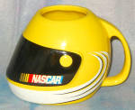 Sherwood Nascar Yellow Helmet Mug