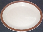 Sterling Tan Brown Rim Platter