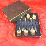 Edwardian Ornate Teaspoons, Boxed Set Of 6.