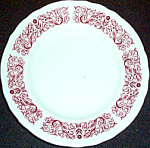 Sterling Red Filigree Bread Plate