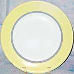 Sterling Yellow / Gray Dinner Plate