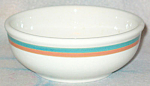 Sterling Green Orange Band Cereal Bowl