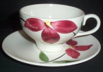 Stetson Rio Red Floral Cup And Saucer