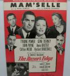 Sheet Music Mam'selle From Movie The Razor's Edge
