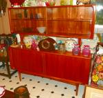 Two Section Sideboard. Mid-20th C. Modern.