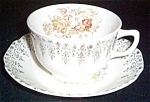 Stetson Floral Filigree Cup And Saucer