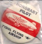 Tydol Flying A Gas Blimp Pilot Pinback