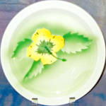 Wallace Yellow Hibiscus Dinner Plate