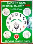 Smokey Bear Teacher Aid Smokey Time Clock
