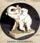 Elephant Figurine Faux Bone