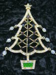 Avon Christmas Tree Brooch Pin 2005 2nd Annual W/crystal Orn.