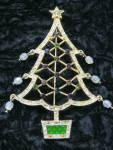 Avon Christmas Tree Brooch Pin 2005 2nd Annual W/crystal Orn.