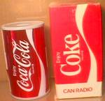 Coca Cola Soda Can Novelty Transistor Radio