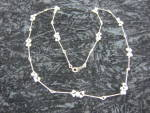 Avon Cluster Faux Pearl Beads On Gold Tone Necklace