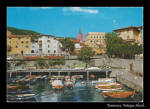 Yugoslavia Vintage Lovran Postcard With Stamp