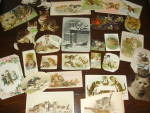 Large Lot Victorian Cat Scraps, Pictures & Die Cuts