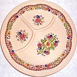 Syracuse Econo-rim Adobe Floral Grill Plate