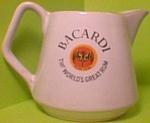 Bicardi Rum Porcelain Bar Water Pitcher
