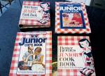 4 Better Homes And Gardens Junior Cook Book-- 1955 First Edition Upto 1990- Childrens Cookbook