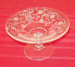 New Martinsville Prelude Pattern Etched Glass Compote