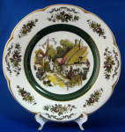 Woods English Village Street Cabinet Plate Ascot Thatched Cottages