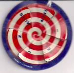 Htf 1930s Cracker Jack Prize Metal Spin Top