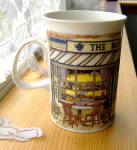 Dunoon Bartrim Tea Room Mug Richard Partis Village Stores Series