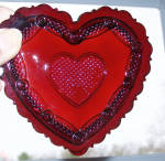 Avon Ruby Red Cape Cod Heart Trinket Box