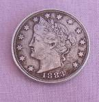 1883 Liberty V Nickel No Cents Xf Details