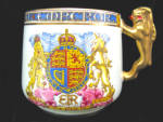 1936 King Edward Viii Paragon Mug With Gold Lion Handle..