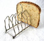 English Toast Rack Gothic Chrome Letter Holder Ball Feet 1930s