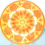 Royal Ironstone Orange Yellow Salad Plate