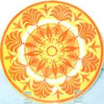 Royal Ironstone Orange Yellow Salad Plate