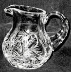 Crystal Clear Industries Whirling Star Cut Creamer