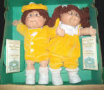 Original Cabbage Patch Twins-signed-papers-box