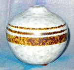 Pottery Craft Brown Stripe Ball Vase