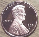 1989-s Lincoln Deep Cameo Proof Cent Red Gem Coins
