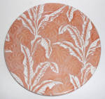 Wallace China Brown Shadowleaf Palm Large Dinner Plate
