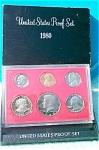 1980-s U.s. Treasury Deep Cameo Gem Proof Set In Original Box 6 Coins
