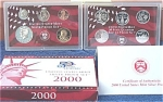 2000-s 90% Silver U.s. Treasury Deep Cameo Gem Proof Set In Original Box With Coa 10 Coins